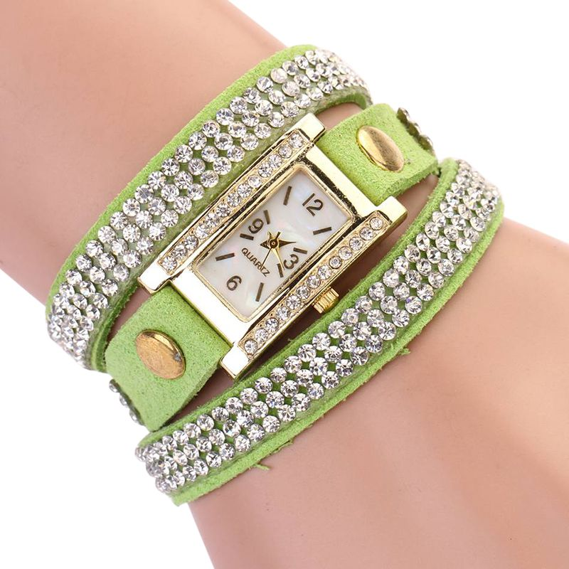 Spring  Rhinestone  Retro Luxury Women  Quartz Wristwatches