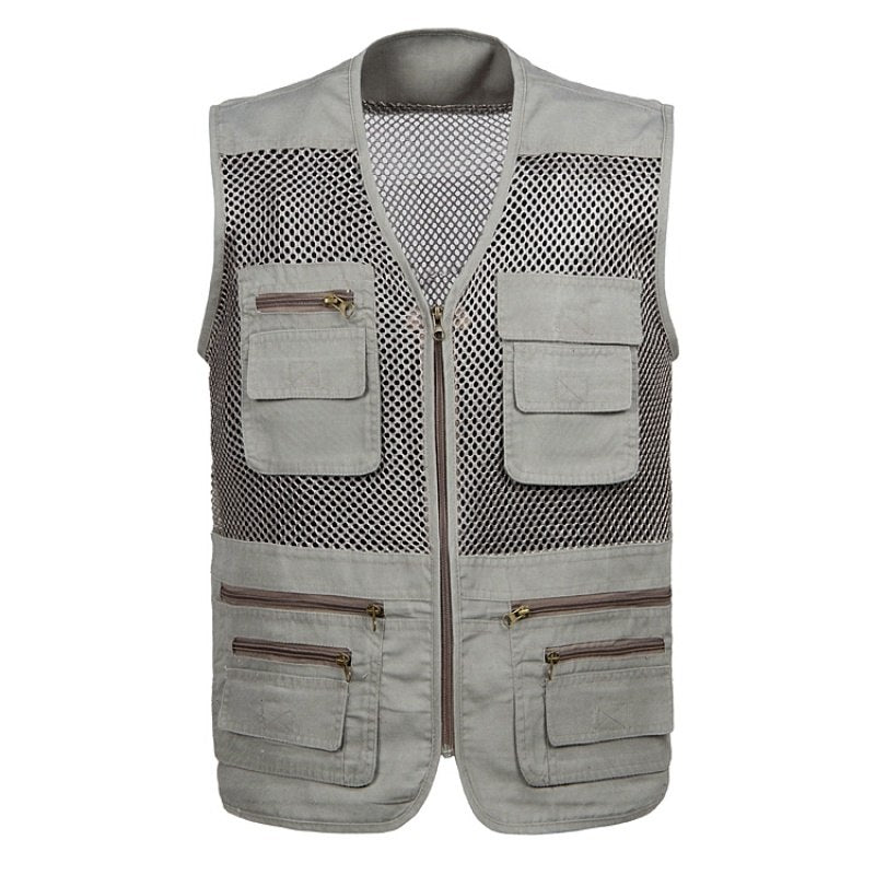 Outdoor Men Women Fishing Vest Summer Hunting Vest Fish Jackets Multi-pockets Professional Photography Vest