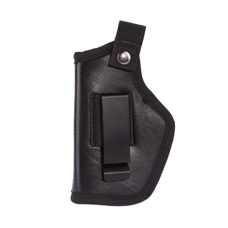 Carry Hidden Belt Holster Metal Clip PU Leather + Nylon Cloth For All Pistols Can Be Cut Left And Right Revolver Glock 1911 Gun