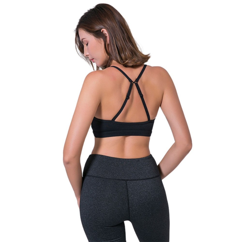 Women Yoga Fitness Mesh Sports Bra