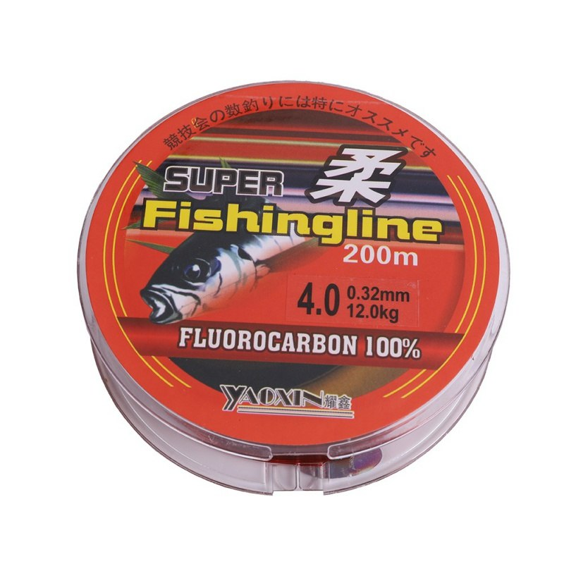200 M 100% Nylon Fishing Line High Quality Transparent Not Fluorocarbon Fishing Tackle  Fishing Line Accessories
