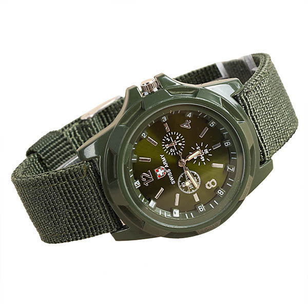 Junge Manner Nylon Stoff  Classic Sports Wrist Watch