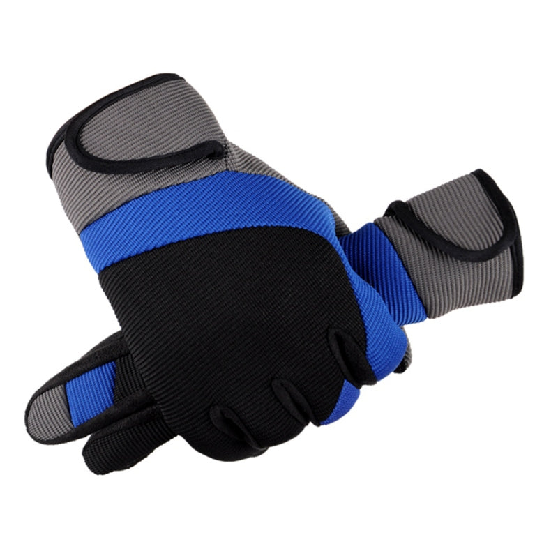 Men's Cycling Sports Gloves Long Finger Gel Pad Sport MTB Bike Touch Screen Bicycle Full Finger Glove