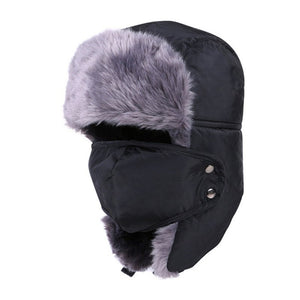 New Winter fur hats Windproof Thick warm winter hat