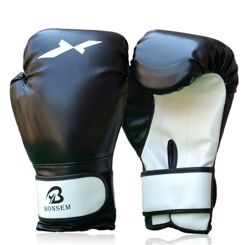 Women Men PU Leather Sanda Boxing Gloves Grappling Training Punching Sparring Boxing Gloves Muay Thai Boxing Gloves C1