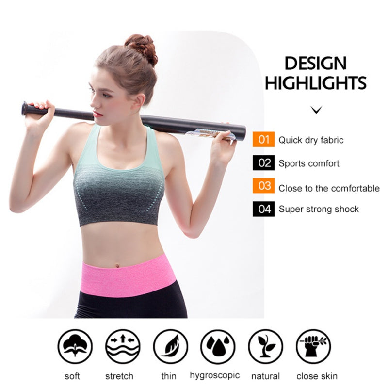 High Stretch Breathable Sports Bra Top Fitness Women Padded Sport Bra for Running Yoga Gym Seamless Crop Bra Gradient