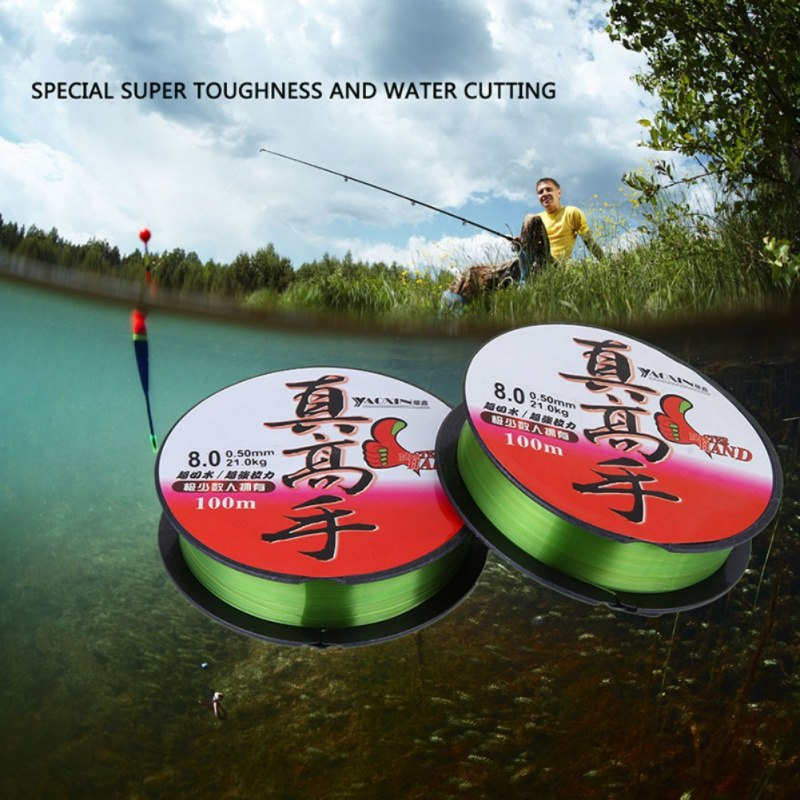 100m Sea Otter Line Fishing Line High Cut Water Nylon Fishing Line Fishing Gear Accessories Fishing Line