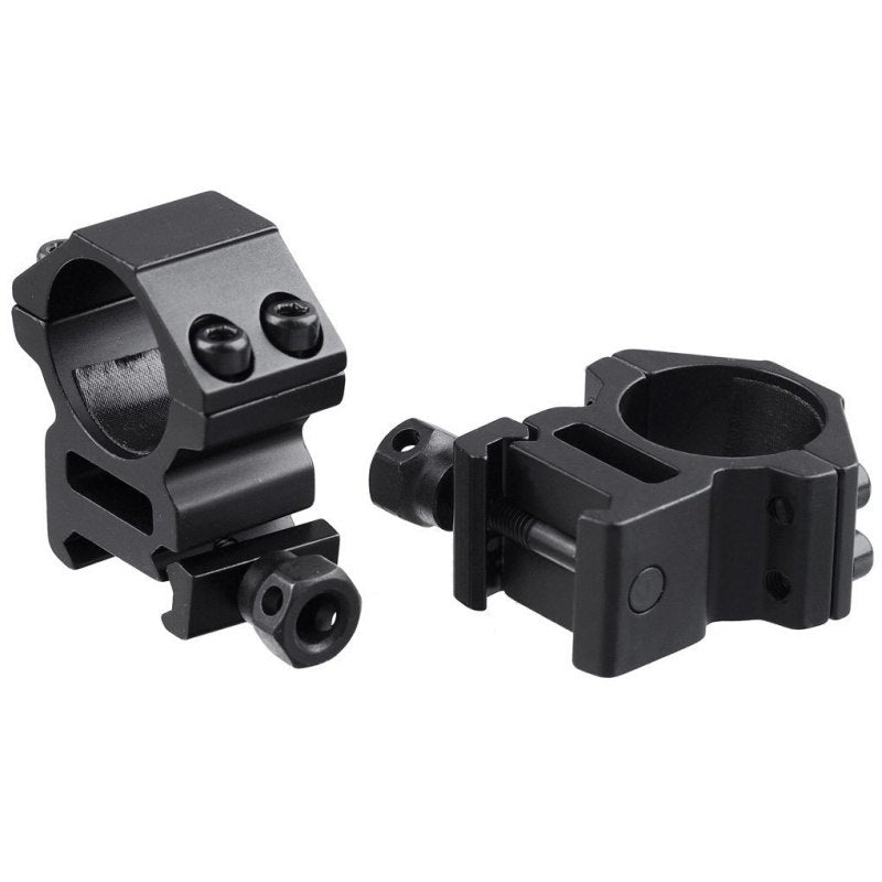 "11mm Picatinny Weaver Rail Mounts 1"" Inch Scope Mount Rings of 2 Pair for Pica-tinny Rails High Quality"