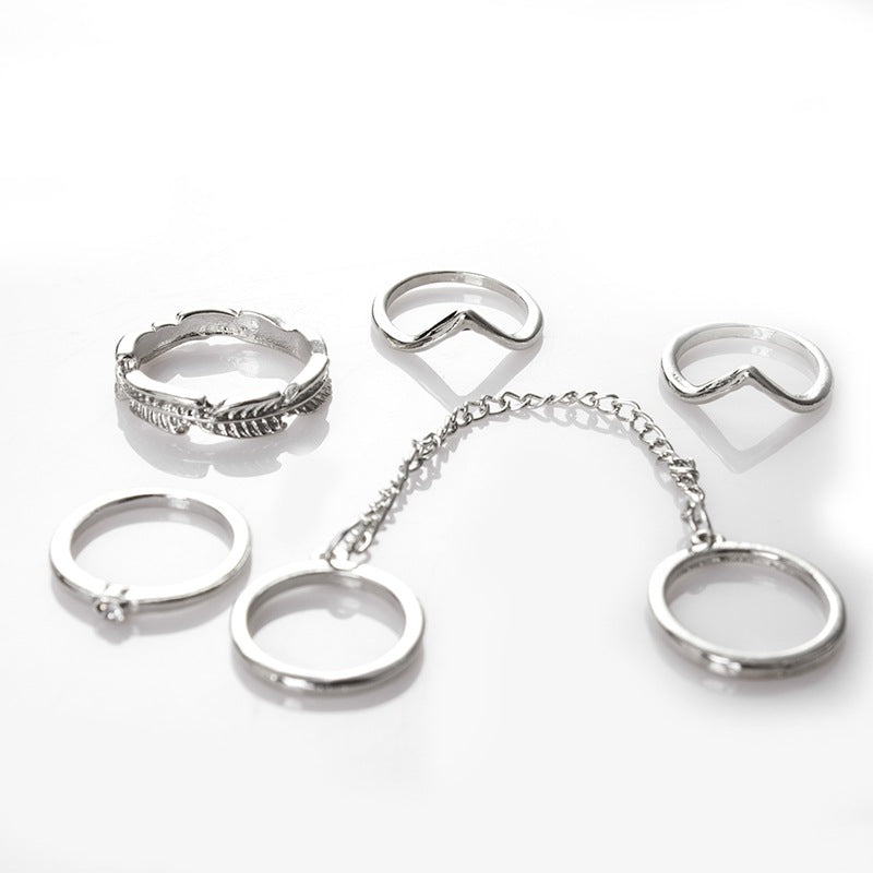 Personalized Leaf Ring 6pcs/lot