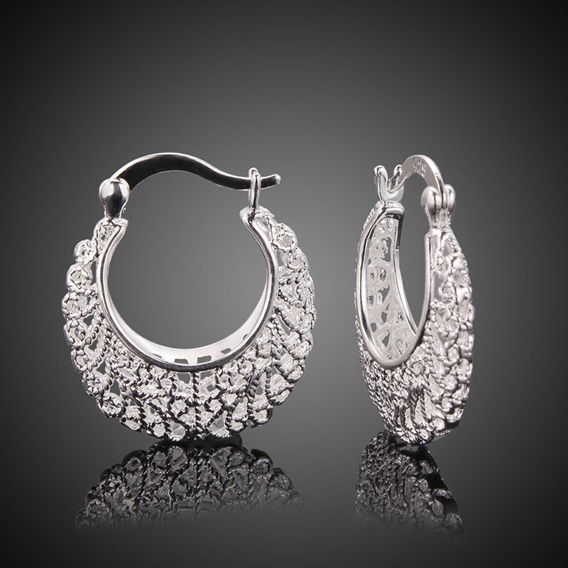 Trendy Hollow Silver Earrings