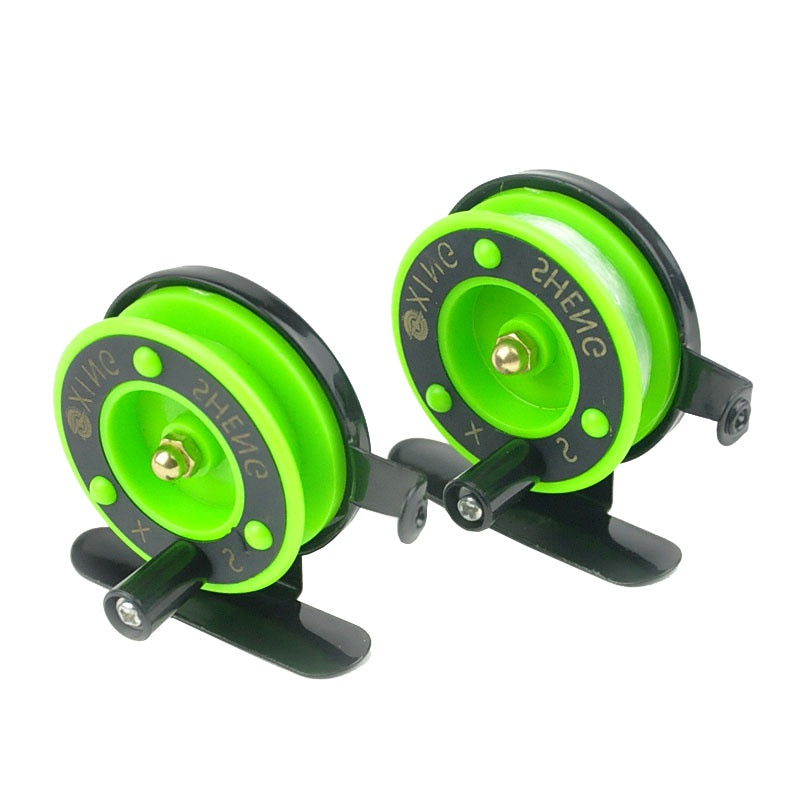 Green Ice fishing Reel Diameter 50mm Fly strong sturdy plastic  fly fishing reel