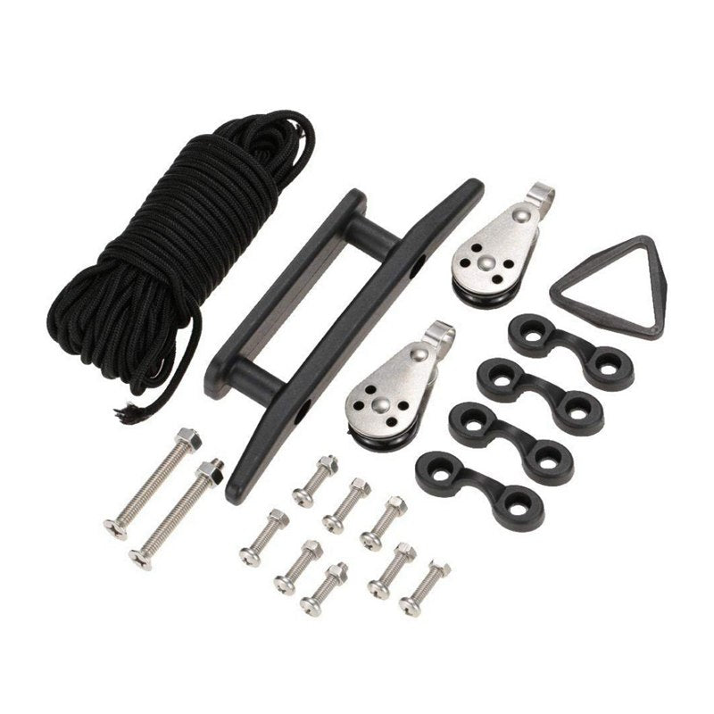 Anchor sleeve set kayak accessories System Pulley Cleat Pad Eyes 4 * Pad Eyes 8 * Short Screws Small Nuts 2 * Long Screws