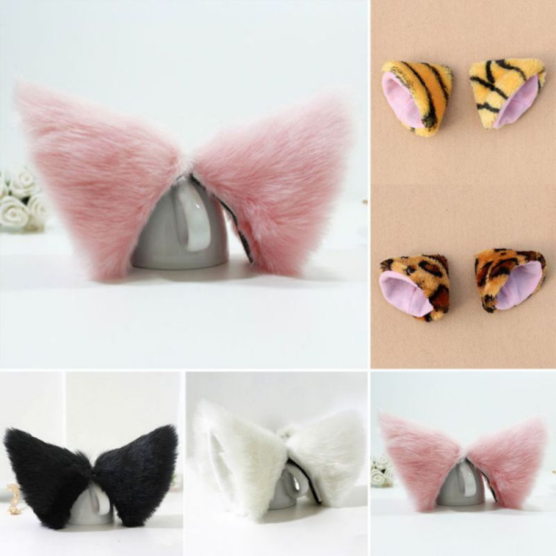 Night Party Club Ball Wearing Deacorate Cat Fox Fur Ear Pattern Hair Clip Bell PY1 P18