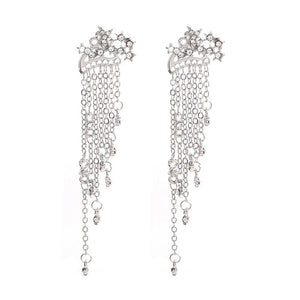 Long Stars Tassels Hanging Earrings