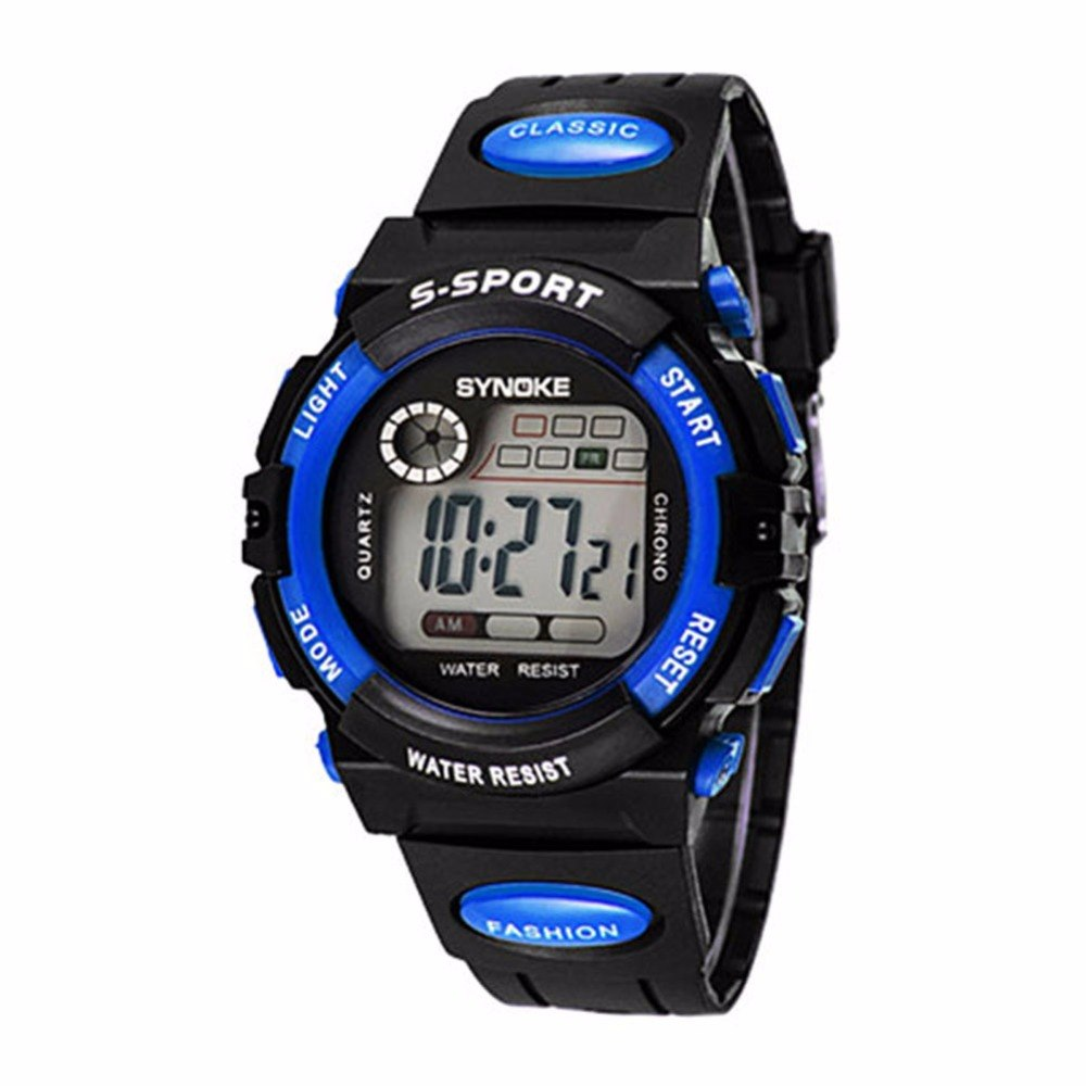 Kids Boy Girl Water Resistance Sports Watchs Fashion Electronic Wrist Watch