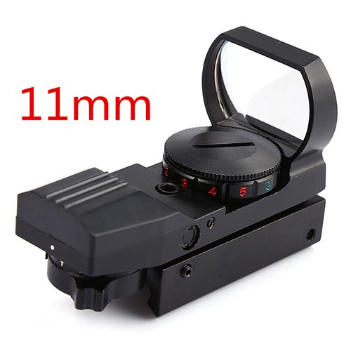 New 11mm/20mm Dot Rail Hunting Softair Viewfinder Optical Scope Holographic Red Dot Viewfinder Reflex 4 Pattern Gun Accessories
