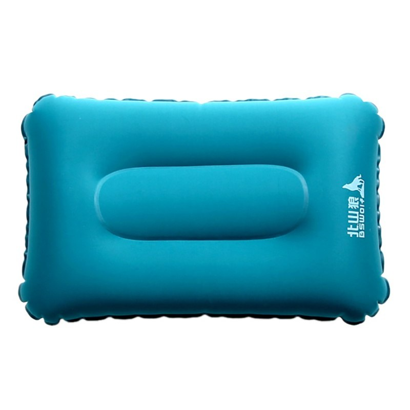 Outdoor Portable Inflatable Camping Travel Pillow Headrest Pillow Inflatable Cushion