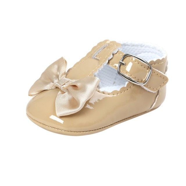 Lovely Soft Sole PU Bow Princess Shoes