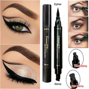 451c2f2a5cd HUAMIANLI Waterproof Double Head Liquid Eyeliner Stamp HUAMIANLI Waterproof  Double Head Liquid Eyeliner Stamp