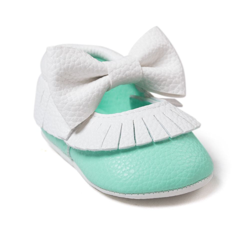 Baby Bow Soft PU Leather Shoes 0-18M