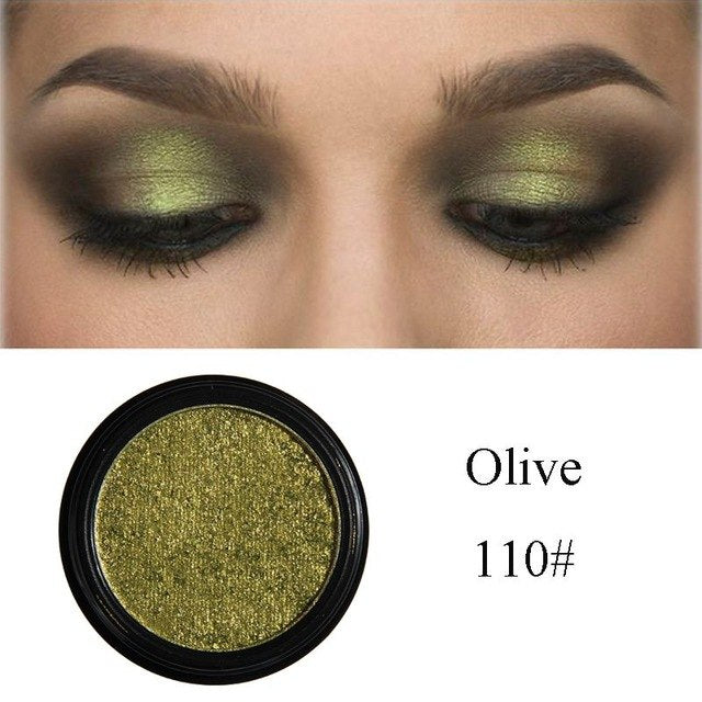 24 Colors Single Metallic Waterproof Eyeshadow Palette