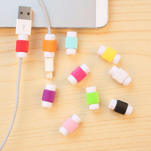 1Pcs Cartoon Protection Mini Silicone Cover Charging Cable