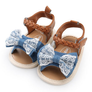 Baby Girl Bow-knot Walking Shoes First Walkers