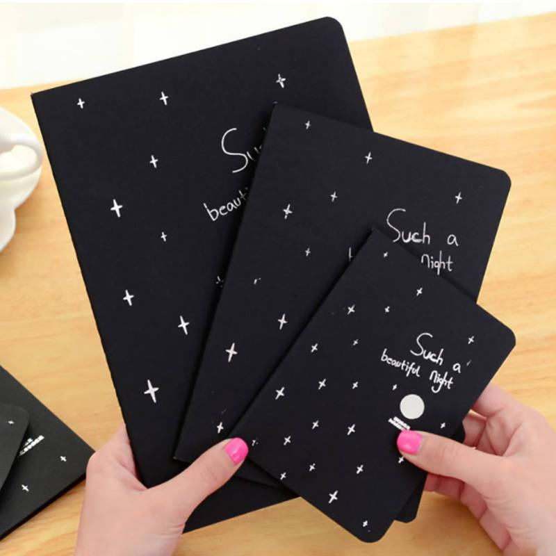 1Pcs Graffiti Soft Cover Black Paper Sketch Book Notebook