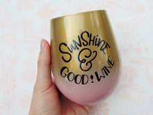 Sunshine & Good Wine Tumbler