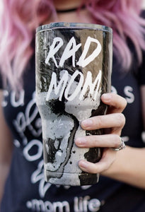 Rad Mom Marbled Tumbler