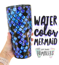 Water color Mermaid Scale Tumbler
