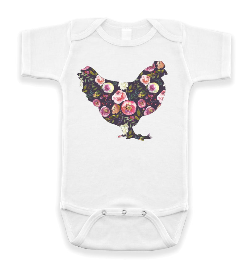 Floral Chicken Bodysuit