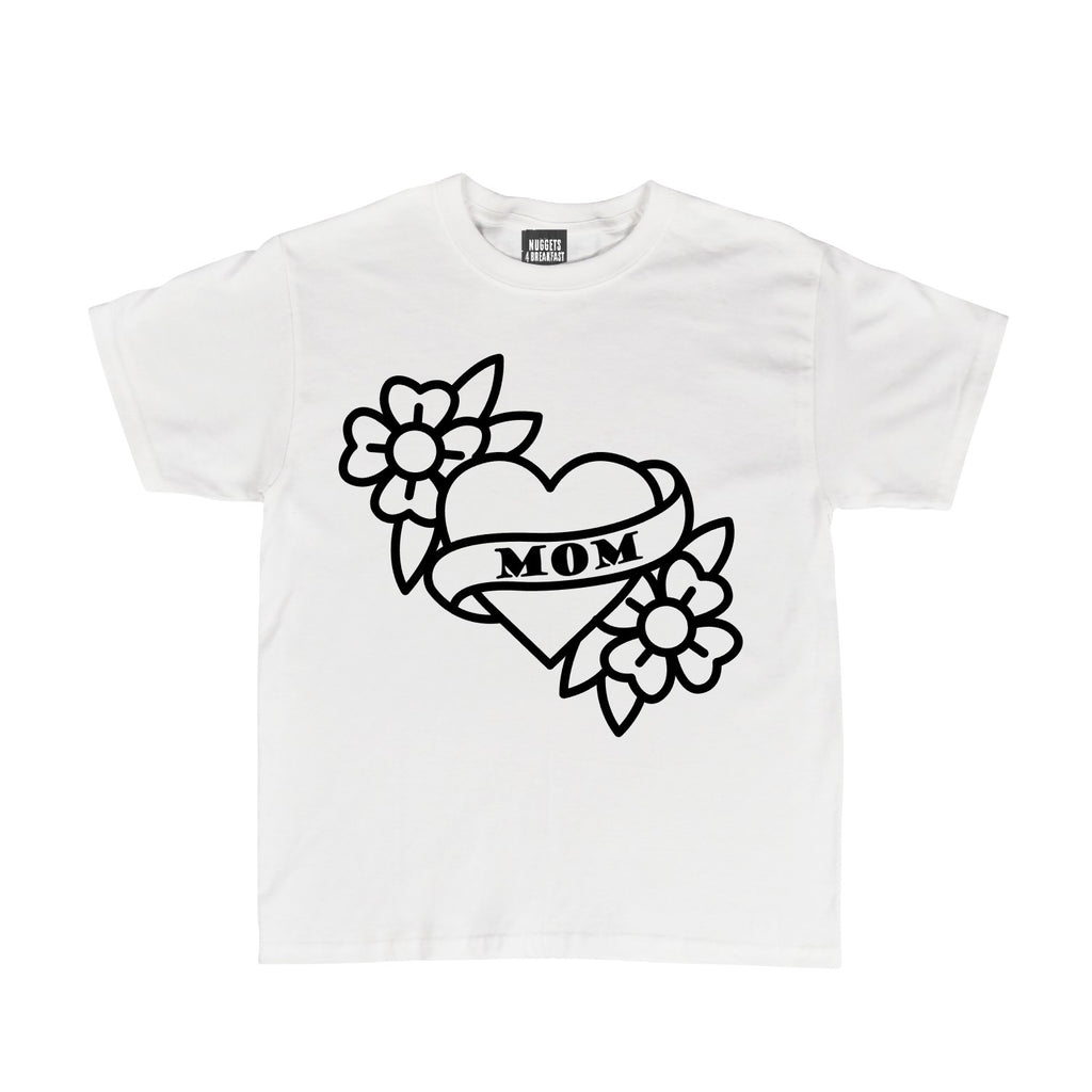 White Mom Tattoo Shirt