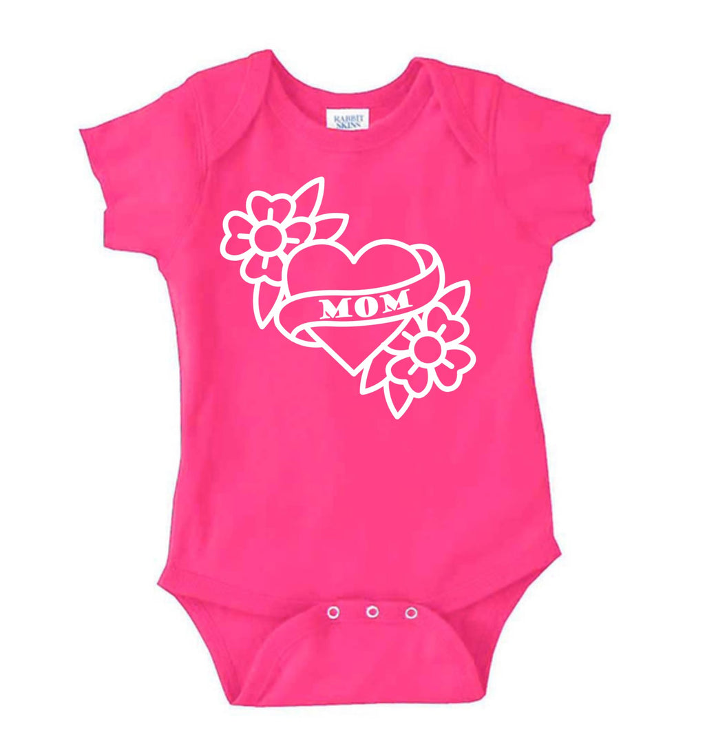 Pink Mom Tattoo Bodysuit
