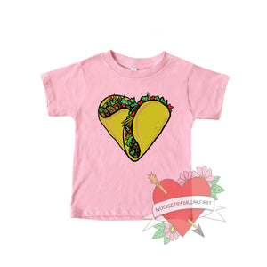 Taco Heart Kids Shirt