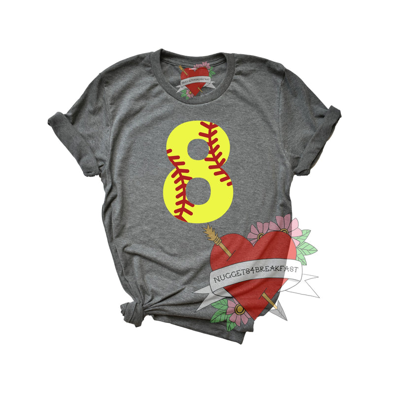 Softball Number- Adult