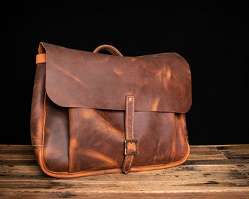 Franklin Leather Messenger Bag | Copper Rough & Tough