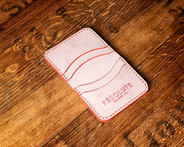 Duke St Leather 8 Pocket Card Wallet | Ghost Buttero Red