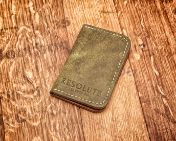Vertical Wallet | Pueblo Olive & Buck Brown