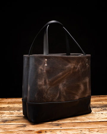 The Chadwick Leather Tote | Wildmoon Harvest and Black Harvest
