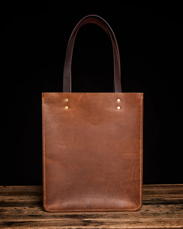 The Maxwell Leather Tote Bag | English Tan