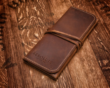 Virginia Leather Pipe Roll | English Tan Harvest