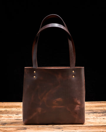 The Madison Leather Tote Bag | Cafe Americano