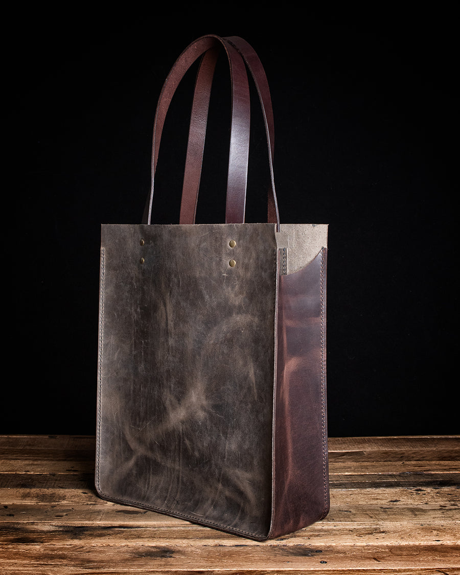 The Maxwell Leather Tote Bag | Battleship