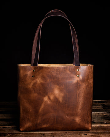 The Madison Leather Tote Bag | English Tan
