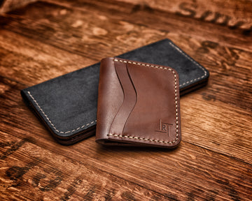 Duke St Leather 8 Pocket Card Wallet in Medium Brown