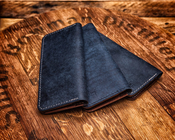 Long Wallet | Navy & Medium Brown