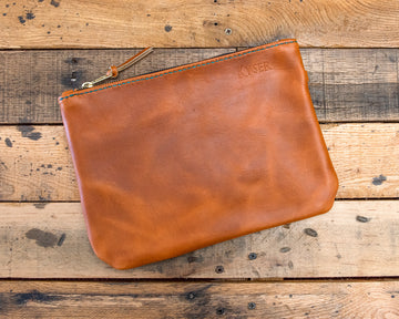 Leather Clutch, Handmade Clutch, Leather Hand Bag, Women's Clutch, Horween Leather