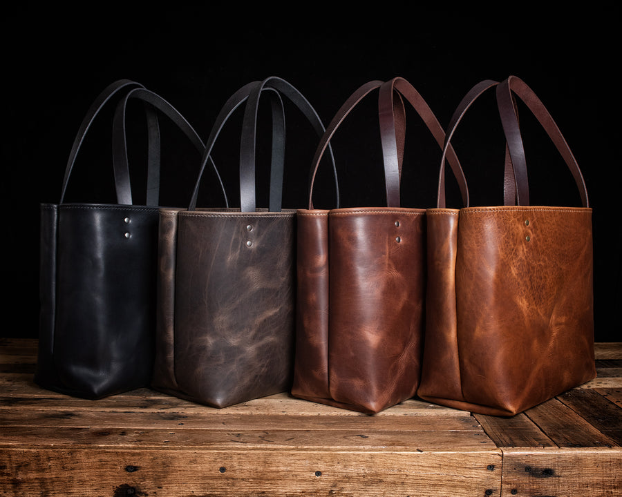Lola Leather Tote Bag | Fall Harvest