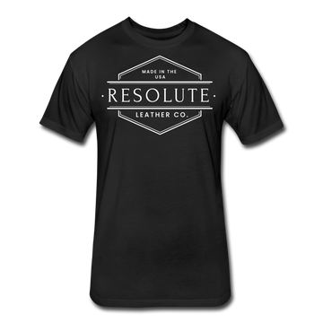 Resolute Leather Co. Fitted Cotton/Poly T-Shirt by Next Level - black
